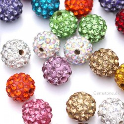 Rhinestone Pavé Crystal Beads 10mm DIY Jewelry
