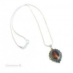 Amber Pendant Silver Chain Natural Baltic Amber