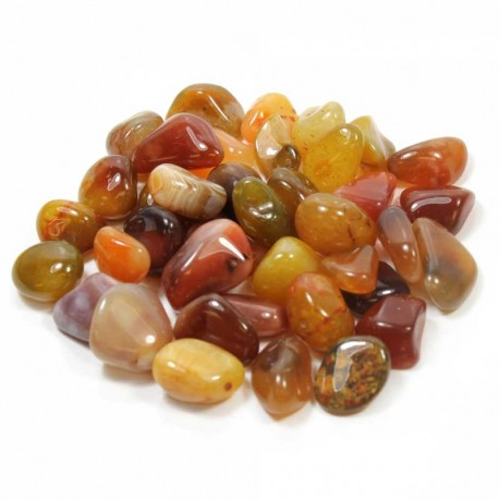 Carnelian tumbled stone River Red South Africa