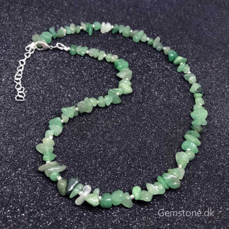 Aventurine Green Necklace Natural Stone Chips