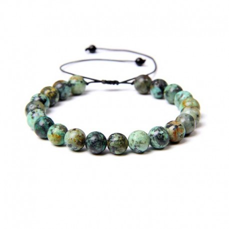 Armbånd Turkis sten knyttet snor Natural African Turquoise