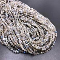 Labradorite Beads Faceted Natural Stone