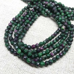 Ruby Zoisite Beads Faceted 4mm Gemstone 1 strand