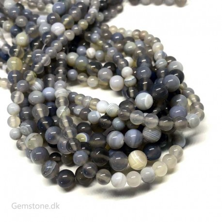 Gray Agate Beads Natural Stone DIY Jewelry