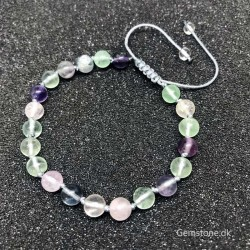Colorful Fluorite Bracelet Knotted Natural Crystal Stone