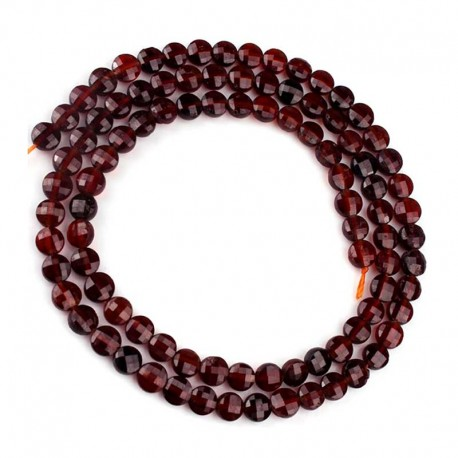 Garnet Beads Faceted 4mm Gemstone 1 strand DIY Jewelry