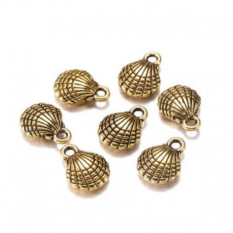 Shell Charms Gold Pendants DIY Jewelry Making