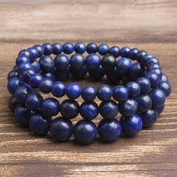 Lapis Lazuli Bracelet Natural Stone 6-8-10mm Stretch Bracelet