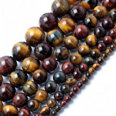 Beads Colorful Tiger Eye Natural Stone Beads DIY Jewelry