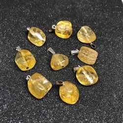 Citrin vedhæng ægte krystal sten irregular form Natural Citrine Gemstone