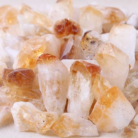 Citrine Crystals Raw Gemstone Points Large