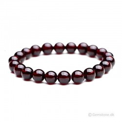Granat Armbånd ædelsten Natural Red-Garnet Gemstone 8mm Stretch Bracelet