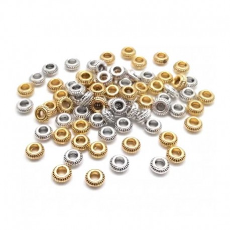 Spacer Beads Metal Gold Silver Color DIY Jewelry