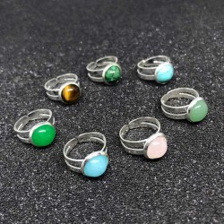 Kids Ring Birthstone Silver Plated Finger Ring