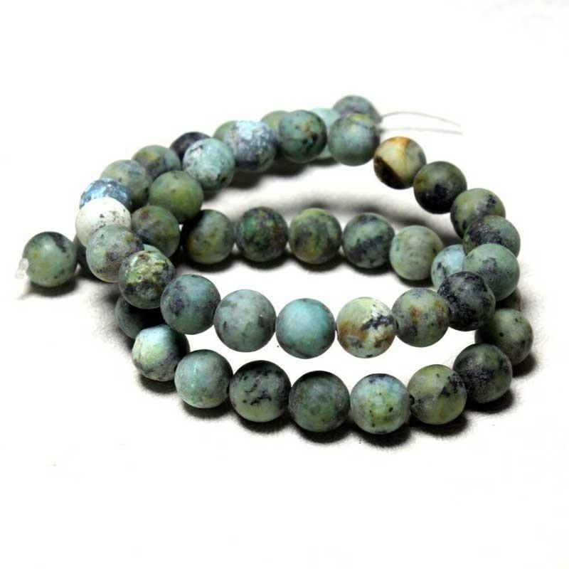 Jaspis Dalmatiner poleret sten køb smykkesten