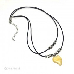 Necklace Aventurine Yellow Pendant Antique Silver Charms