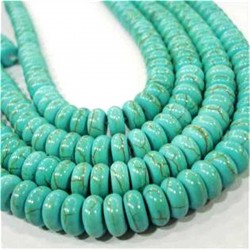 Turquoise Beads Rondelle 8x5mm Natural Stone