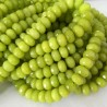 Green Peridot Beads Rondelle Faceted Natural Stone DIY Jewelry