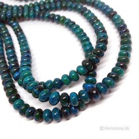 Chrysocolla Beads Rondelle Natural Stone DIY Jewelry