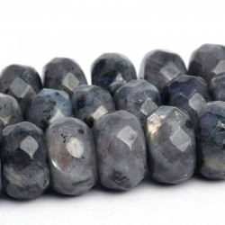 Larvikite Beads Faceted Rondelle Natural Stone