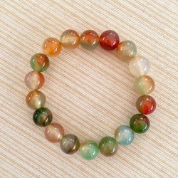 Bracelet Colorful Agate 10mm beads