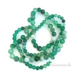 Dalmatiner Jaspis rundt vedhæng & læderhalskæde