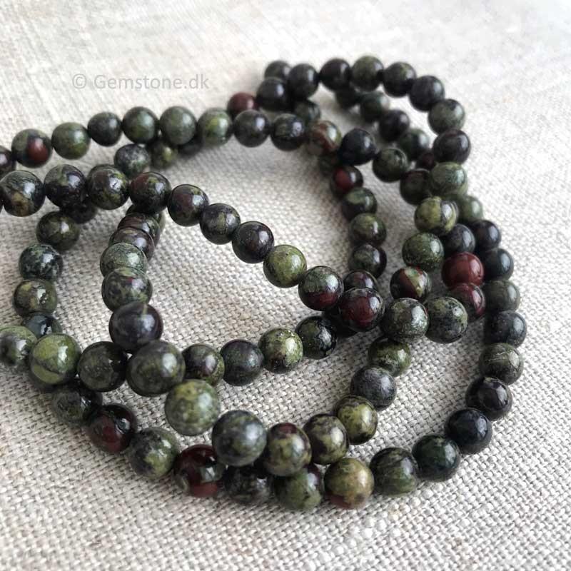 Cherry Kvarts rundt vedhæng med læderhalskæde Natural Cherry Quartz Gemstone