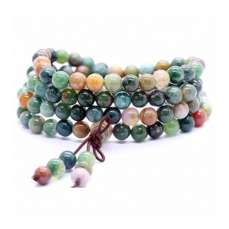 Mala Beads Agate 108 gemstone 6 mm beads