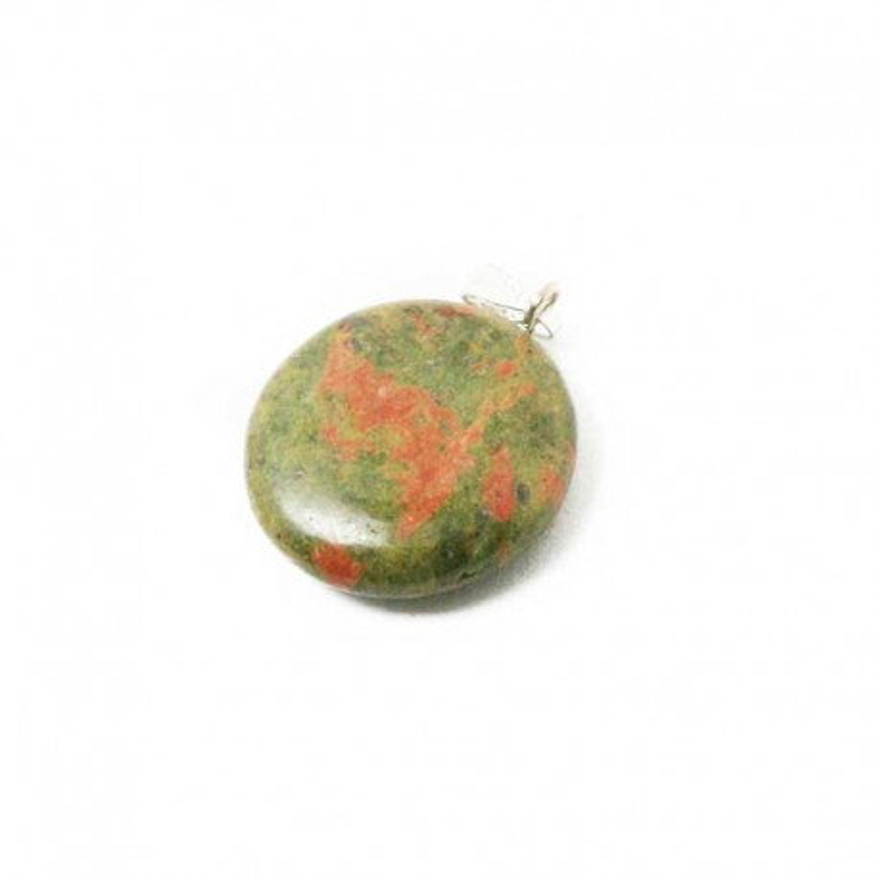 Natural stone round pendant