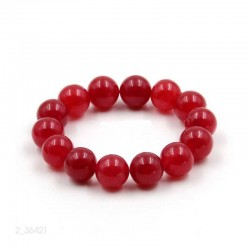 Jade Red gemstone bracelet 10mm beads
