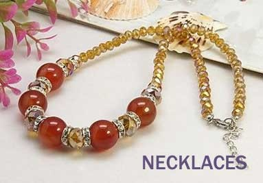 Necklaces handmade with gemstones